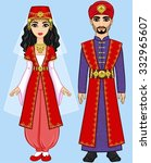 animation arab family in...   Shutterstock .eps vector #332965607