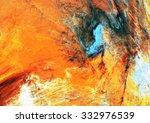 Abstract Beautiful Orange  Blu...