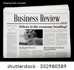 Business Newspaper Isolated...