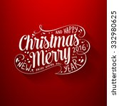 christmas greeting card design. ... | Shutterstock .eps vector #332980625
