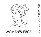 woman's face drawing pencil | Shutterstock .eps vector #332981381