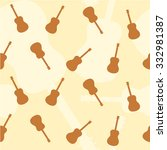 guitar music background vector | Shutterstock .eps vector #332981387