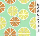 seamless    pattern  of citrus...   Shutterstock . vector #332988467