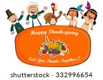 happy thanksgiving holiday... | Shutterstock .eps vector #332996654