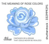 blue rose infographics  vector... | Shutterstock .eps vector #332999291