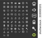 line icons set. a large set of... | Shutterstock .eps vector #333000101