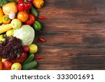heap of fruits and vegetables... | Shutterstock . vector #333001691