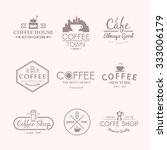 beautiful set of vector labels... | Shutterstock .eps vector #333006179