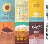 beautiful set of vector vintage ... | Shutterstock .eps vector #333006185
