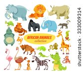 Big Set Of Cartoon Safari...