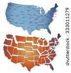 vector illustration of map of... | Shutterstock .eps vector #333011279