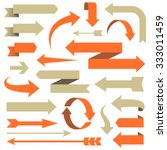 Arrow Set - Set of arrow designs in different styles.  Each element is grouped for easy editing.  Colors are global swatches. | Shutterstock vector #333011459