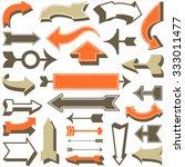 retro arrow set   set of retro... | Shutterstock .eps vector #333011477