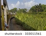 vintage train that goes from... | Shutterstock . vector #333011561
