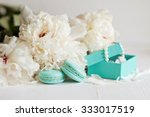 Tiffany Blue Macarons With...