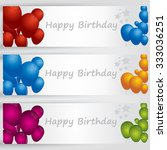 happy birthday  banners with... | Shutterstock .eps vector #333036251