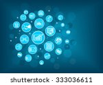 fin tech  financial technology  ... | Shutterstock .eps vector #333036611