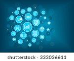 fin tech  financial technology  ... | Shutterstock .eps vector #333036611