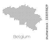 a map of the country of belgium | Shutterstock . vector #333055829