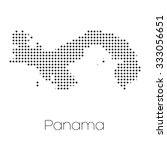 a map of the country of panama   Shutterstock . vector #333056651