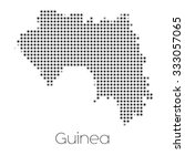 a map of the country of guinea | Shutterstock . vector #333057065