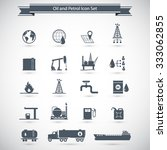 oil and petrol icon set | Shutterstock .eps vector #333062855