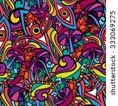60s hippie psychedelic art... | Shutterstock .eps vector #333069275