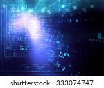 colorful  geometric grid and... | Shutterstock . vector #333074747