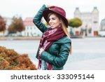 beautiful fashionable girl...   Shutterstock . vector #333095144