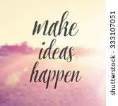 inspirational typographic quote ... | Shutterstock . vector #333107051