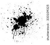 Abstract Splatter Black Color...