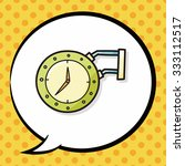 clock doodle  speech bubble   Shutterstock .eps vector #333112517