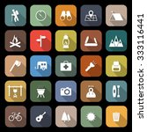 trekking flat icons with long... | Shutterstock .eps vector #333116441