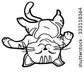cartoon cat coloring page | Shutterstock .eps vector #333118364