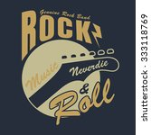 rock and roll graphic for t... | Shutterstock .eps vector #333118769