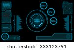 abstract futuristic... | Shutterstock .eps vector #333123791