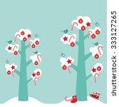 merry christmas card design... | Shutterstock .eps vector #333127265