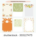 thanksgiving printable cards... | Shutterstock .eps vector #333127475