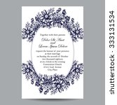 invitation with floral... | Shutterstock .eps vector #333131534