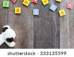Wooden Toy Plate With Numbers ...