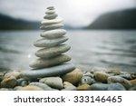 Zen Balancing Pebbles Misty...