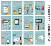 big set infographic with charts ... | Shutterstock .eps vector #333158519