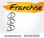franchise blank list  business... | Shutterstock .eps vector #333162065