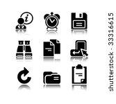 black icons set 3   Shutterstock .eps vector #33316615