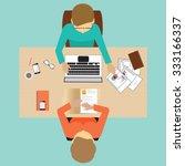 recruitment flat banner set...   Shutterstock .eps vector #333166337