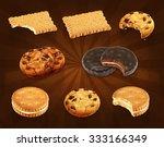 cookies vector set | Shutterstock .eps vector #333166349