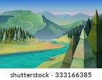forest landscape  nature vector ... | Shutterstock .eps vector #333166385