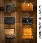 old baggage  vector set on... | Shutterstock .eps vector #333166397