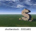 Dollar Rock On A Green Field  ...