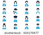 occupation icons symbol for web ... | Shutterstock .eps vector #333170477